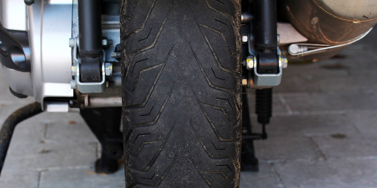 worn motorcycle tire