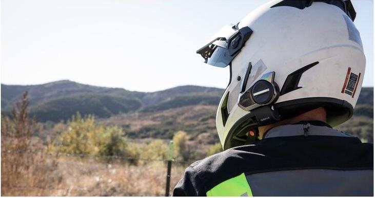 Sena 50s mounted on helmet