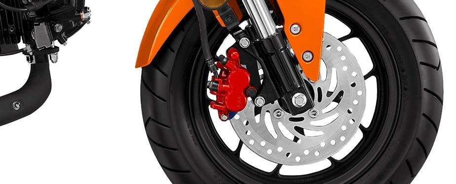 Honda grom tires closeup