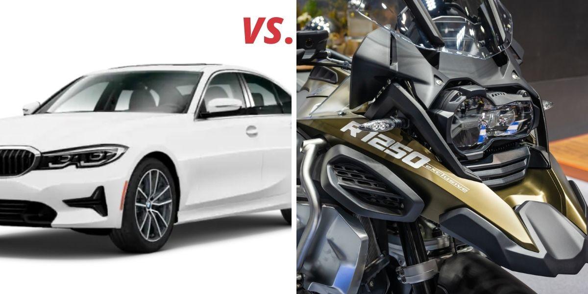 motorcycle versus car image