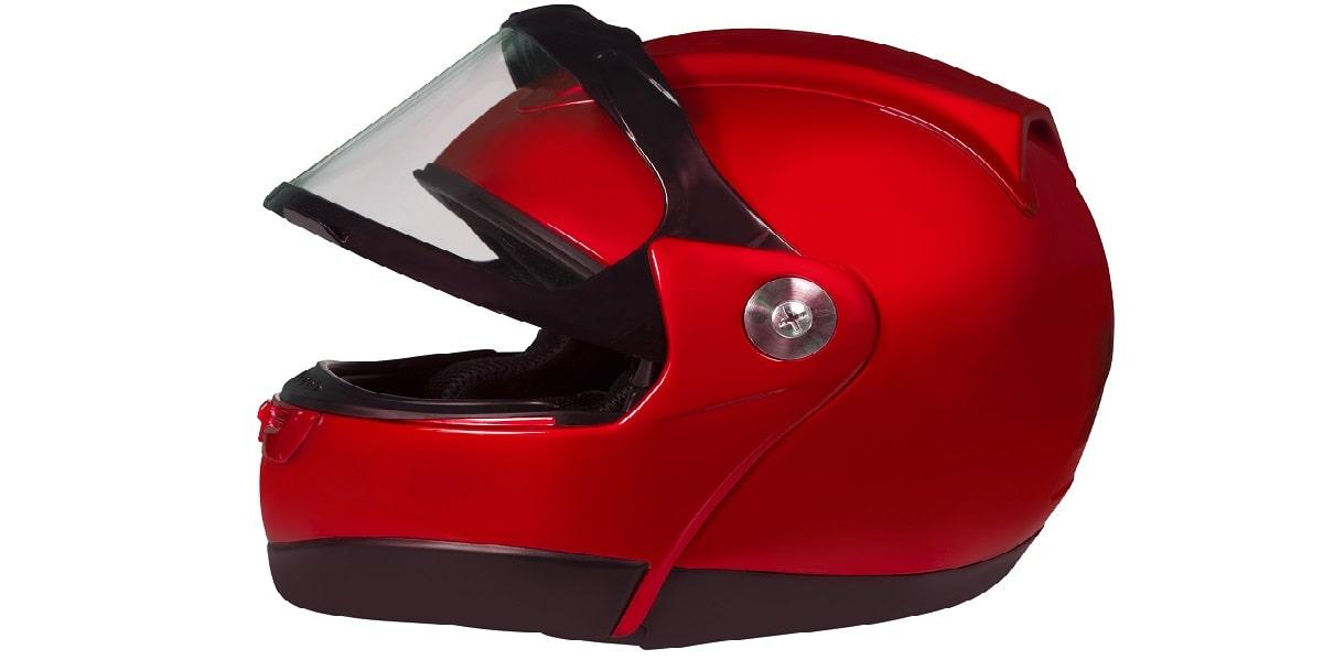 motorcycle helmet with front open
