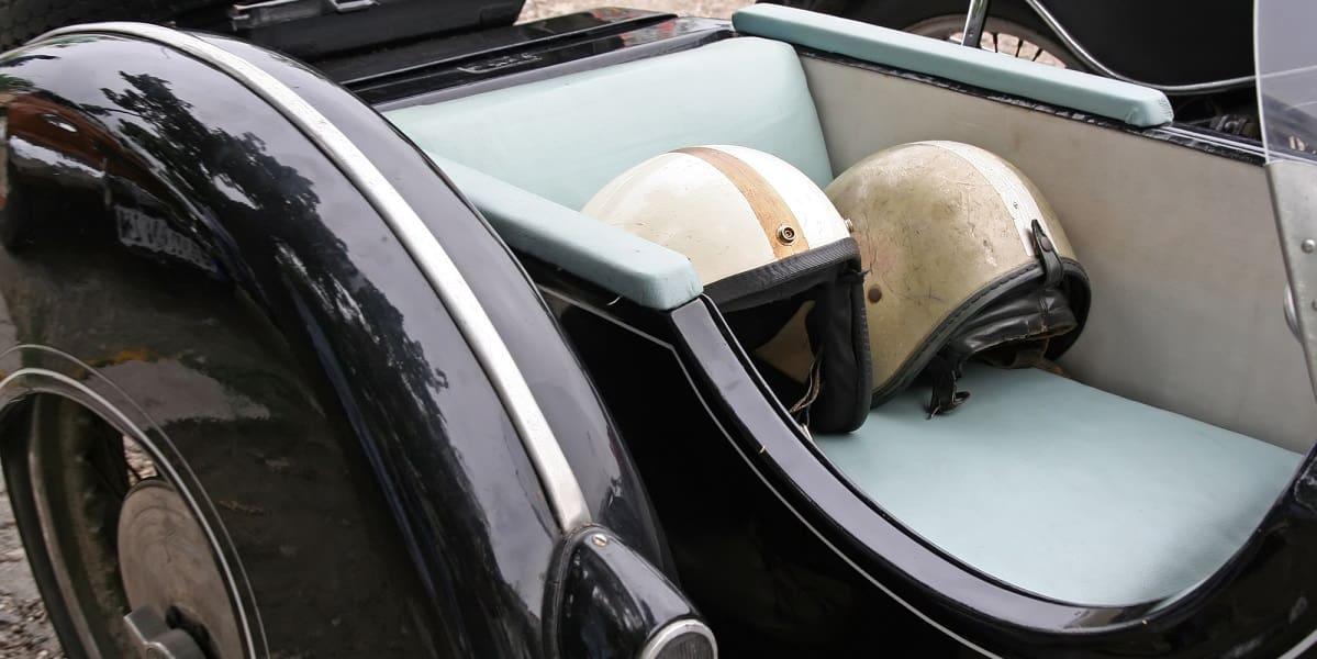 motorcycle helmets in car