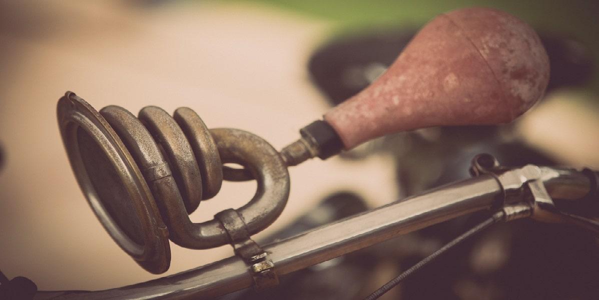 Vintage motorcycle horn
